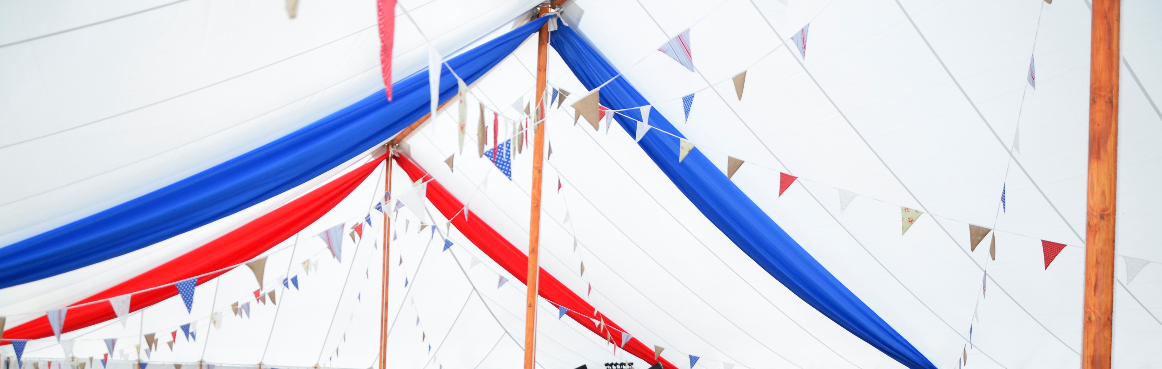 our beautiful bunting is an extra you can have with your wedding at perrygrove