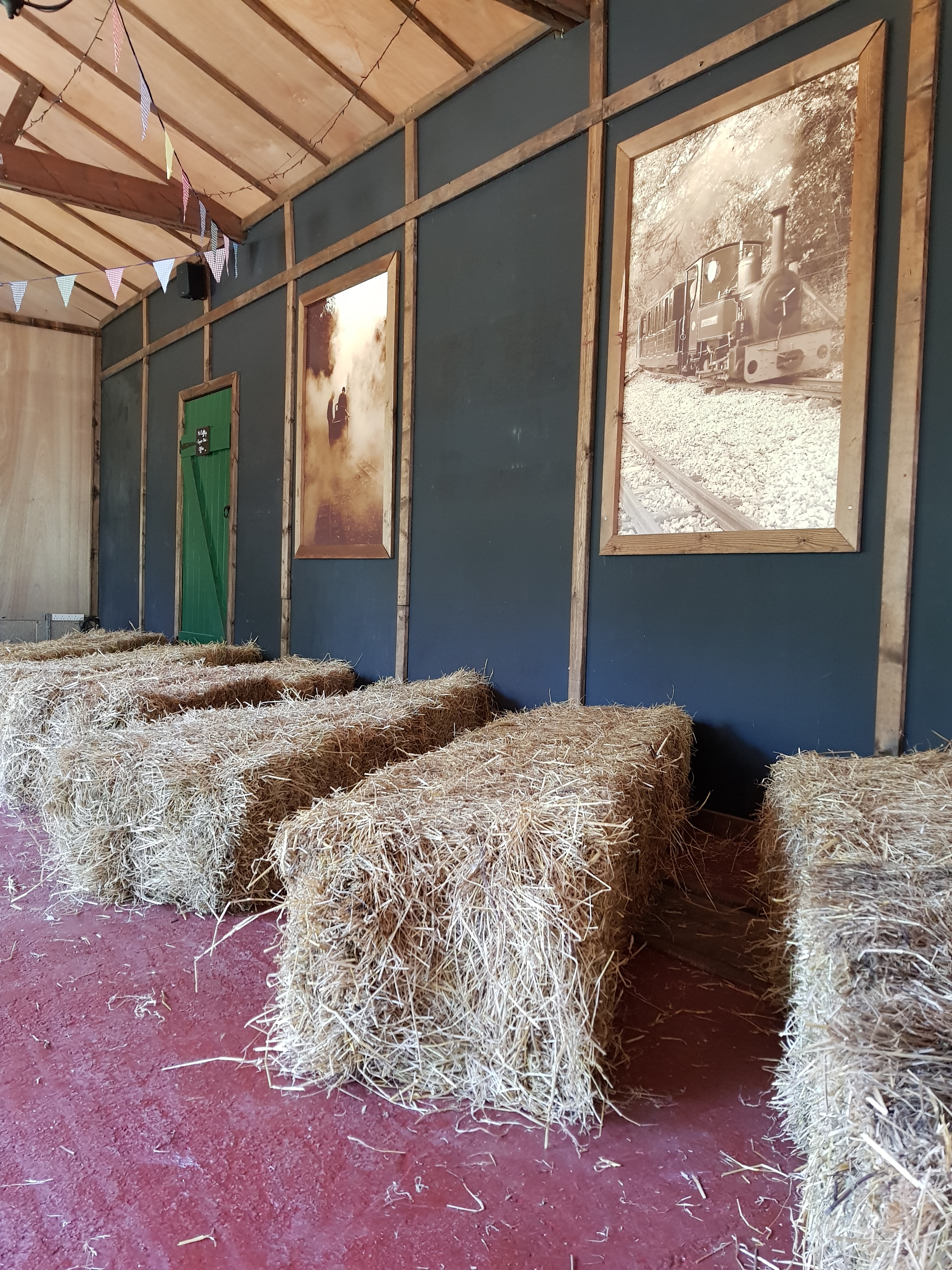 hay bales are an extra you can have with your wedding at perrygrove
